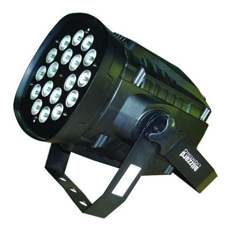 colorstorm par 18x10 watt rgbw led high power par can