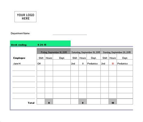 nursing schedule templates    premium
