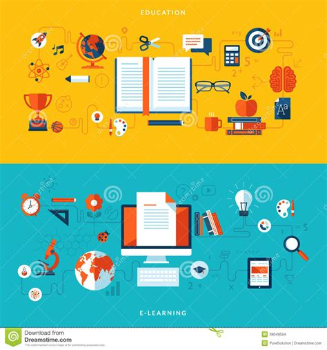 Design Education by Flat Design Illustration Concepts Of Education An Stock