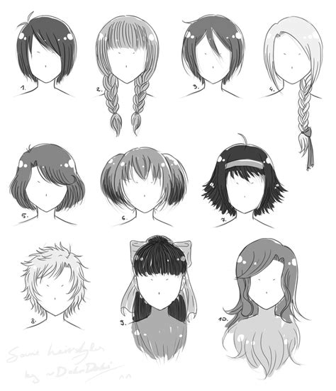 hairstyle references  dokudoki  deviantart