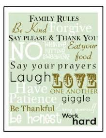 Free Printable Family Rules Art