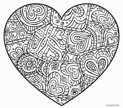 Coloring Heart Pages Abstract Printable Cool2bkids