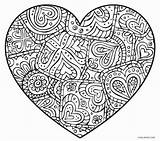 Coloring Heart Pages Abstract Printable Cool2bkids sketch template