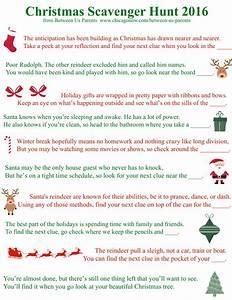 Printable Christmas Scavenger Hunt Clues, 2016 Edition ...