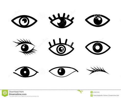 simple eye clipart black and white eye designs stock vector illustration of graphic element