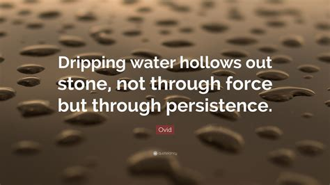 ovid quote dripping water hollows  stone