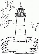 Coloring Lighthouse Pages Adults Comments sketch template