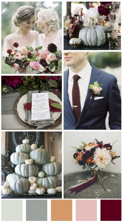 wedding color schemes for fall best 25 october wedding colors ideas on