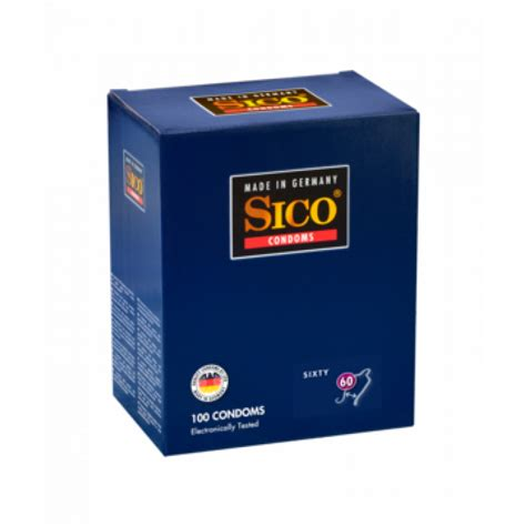 100 SICO Kondome Größenkonzept  Extra Große Kondome 60 mm