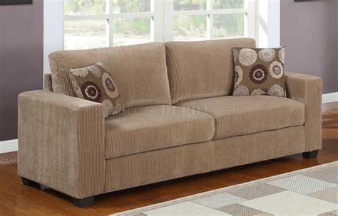 paramus 9738 sofa homelegance light brown corduroy w