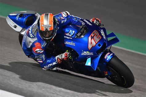 rins heads suzuki    day   qatar motogp test