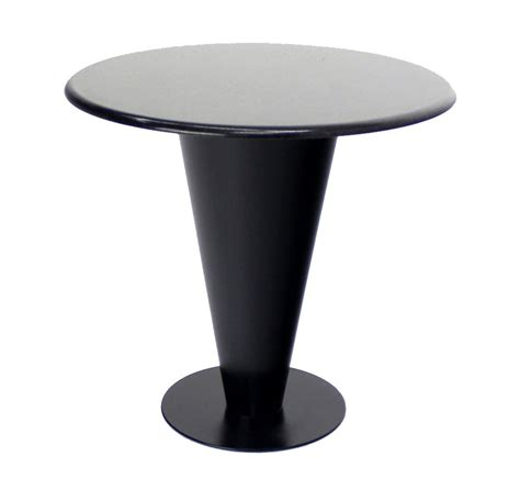 Apollo Woodworking Black Granite Top and Metal Cone Base Cafe Table at 1stdibs