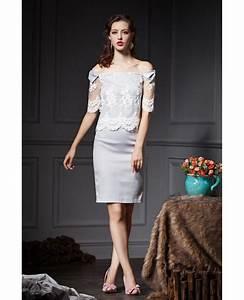 grey sheath off the shoulder lace wedding guest dress With off the shoulder dress for wedding guest