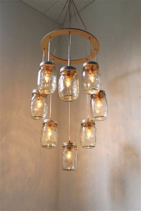 jar chandelier by boots n gus eclectic