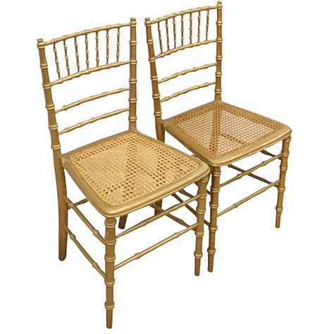 antique pair of gilt faux bamboo chairs antiques co uk