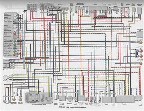 virago 1100 wiring diagram for 1100 virago yamaha virago yamaha diagram