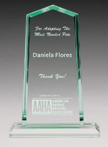 glass award plaques
