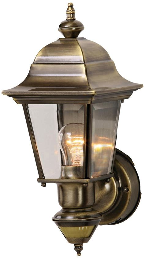 artisan antique brass energy star outdoor wall light
