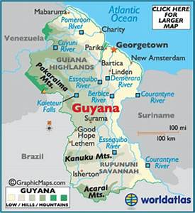 World atlas world map atlas of the world including geography facts guyana map geography of guyana map of guyana worldatlas gumiabroncs Image collections