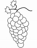 Grapes Coloring Pages Bunch Printable Template Grape Fruit Drawing Cluster Crafts Medium sketch template