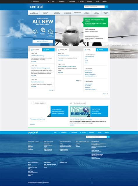 Intranet Portal Design Templates Nav Canada S Delightful Intranet Is Based On Sharepoint