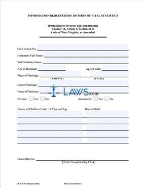 vital statistics form for divorce form sca fc 104 vital statistics form for petitioner