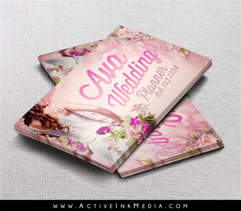 wedding planner event coordinator business card template