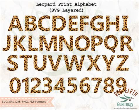 leopard letterscheetah lettersleopard print svgcheetah print svg leopard pattern svg