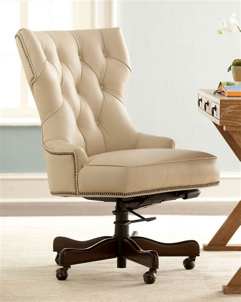 Tufted Leather Desk Chair 187 Inspire Tufted Leather by How To Decorate An Office At Work With Leather Chairs