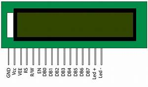 16 U00d72 Lcd Display Pin Diagram And Its Pin Descriptions  U2013 Tech Mastery