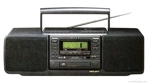 Sony CFD-255 - Manual - Portable CD Radio Cassette ...