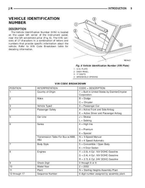 hayes auto repair manual 2003 chrysler sebring windshield wipe control dodge stratus chrysler sebring 2002 service repair manual