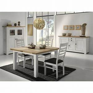 Table Carrée Blanche : table salle a manger carree blanche table verre avec rallonge maison boncolac ~ Teatrodelosmanantiales.com Idées de Décoration