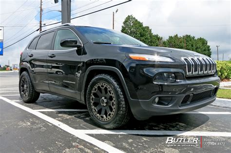 jeep cherokee black with black rims jeep cherokee with 18in black rhino warlord wheels