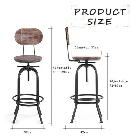 hauteur chaise de bar wood ikayaa bar stool height adjustable swivel kitchen dining chair lovdock com