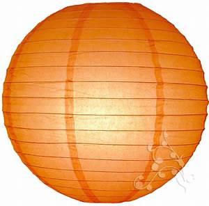 14 Inch Orange Even Round Chinese Lanterns