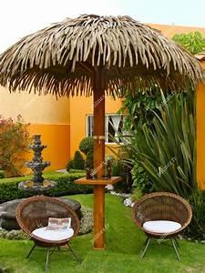 Parasol En Paille : parasol exotique en feuilles de palmier synth tiques palmex france ~ Teatrodelosmanantiales.com Idées de Décoration