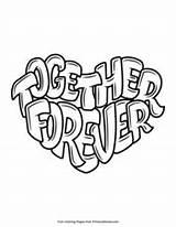 Forever Together Valentines Coloring Valentine Primarygames Printable sketch template