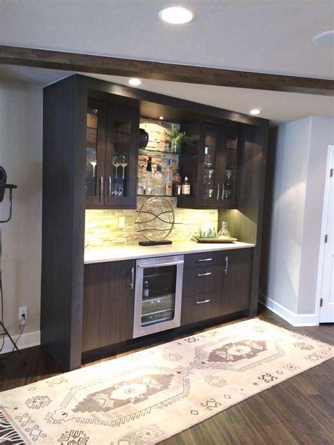 wet bar cabinet home transitional  glass shelves