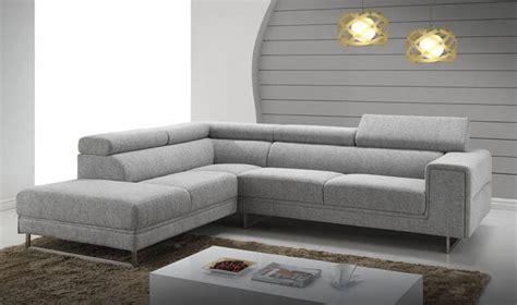 tissu de canap canap d 39 angle en tissu gris chin design avec appui tte relevable