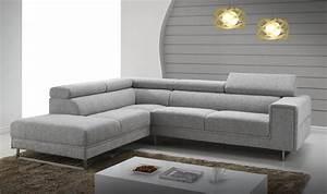 canap d39angle en tissu gris chin design avec appui tte With tapis enfant avec appui tete canapé