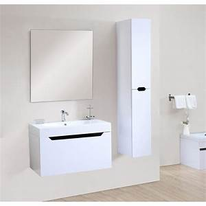 malo salle de bain complete simple vasque 80 cm blanc With porte d entrée pvc avec alban salle de bain complète double vasque 120 cm