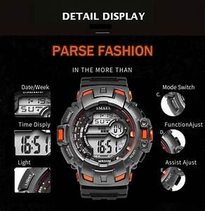Smael 1532a Electronic Watch Fashion Sport Water Resistant