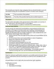 Description Job Analysis Template