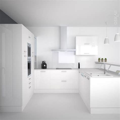 cuisine blanche moderne cuisine blanche moderne façade stecia blanc brillant