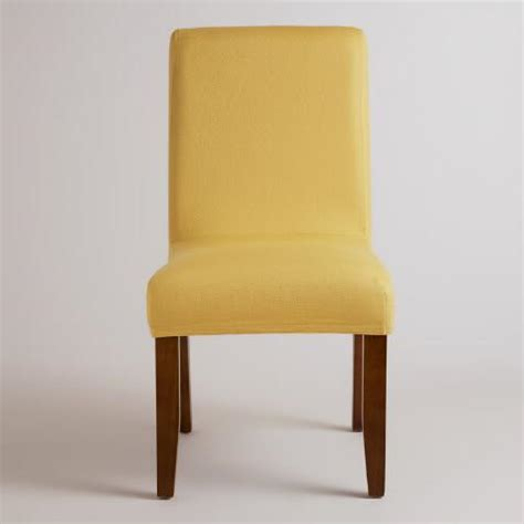 yellow anna chair slipcover world market