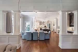 Interior Columns - Transitional - Dining Room - Blue Water