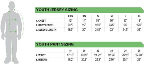 how to size motocross thor mx phase jersey pant combo youth size 24 lg