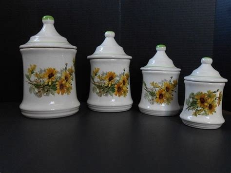 Sunflower Canister Sets Kitchen sunflower canister set kitchen canisters