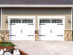 Decorative garage home ciabizcom for Carriage style garage doors kit